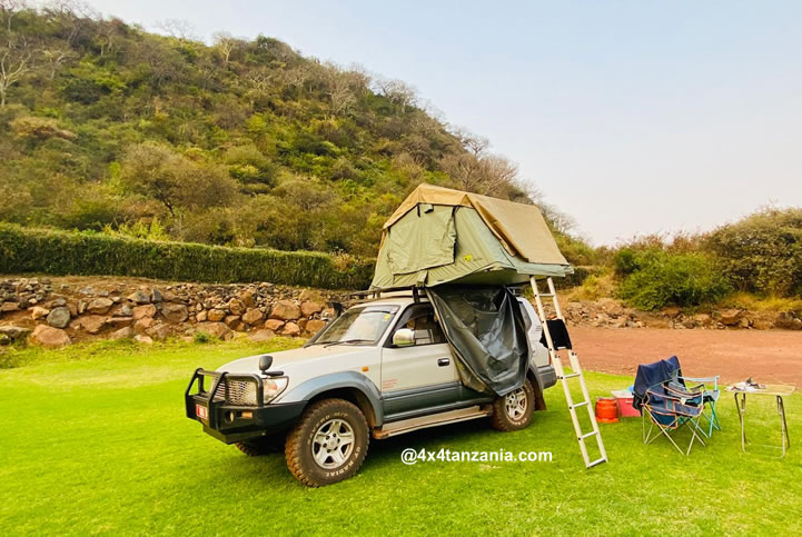 Car Hire with a Rooftop Tent in Tanzania