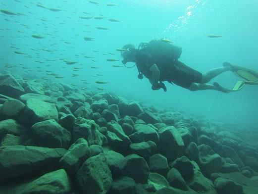 Scuba-diving Lake Tanganyika